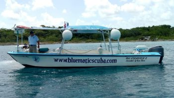 The Enigma just off the shore of Cozumel