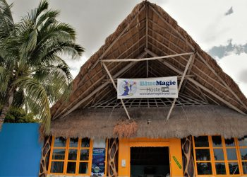 Front of Blue Magic Hostel